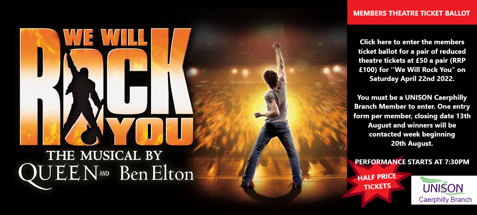 We Will Rock You Caerphilly Branch Competition